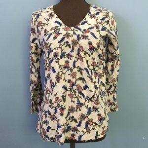 4 FOR $10 Gipsy Floral Boho Ruffle-Sleeve Blouse